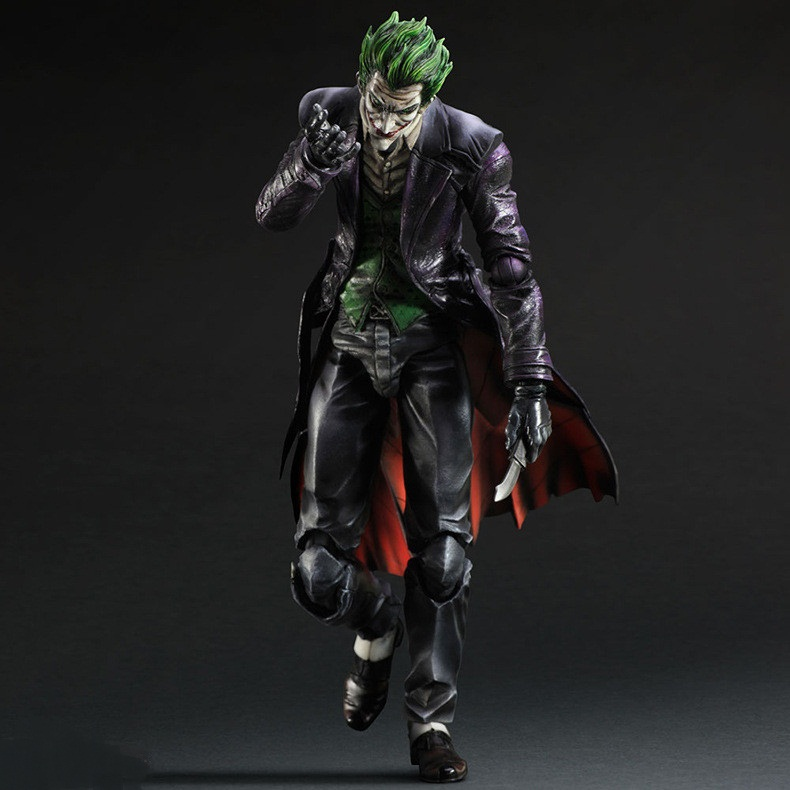 28cm Suicide Squad Joker batman Justice league Movable PVC Action Figure Can Change Face Collectors Model Toys-in Action & Toy Figures from Toys & Hobbies    3