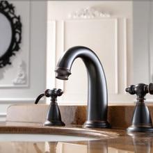 Классический стиль Античный Черный 8 дюймов широко распространенный Умывальник для ванной комнаты кран рукоятки рычага кран