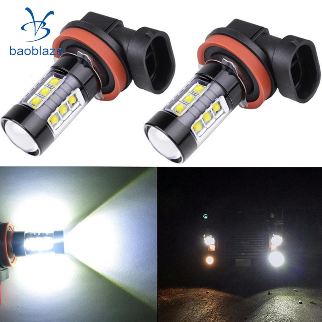 2pcs 50W H8/H11 High Power 6000K White LED Fog Light Bulbs DRL Lamps