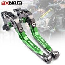 BXMOTO Motorcycle Accessories Cnc Aluminum Green Brake Clutch Lever Set For Kawasaki Z1000 Z 1000 2003-2017 Motorbike logo z1000