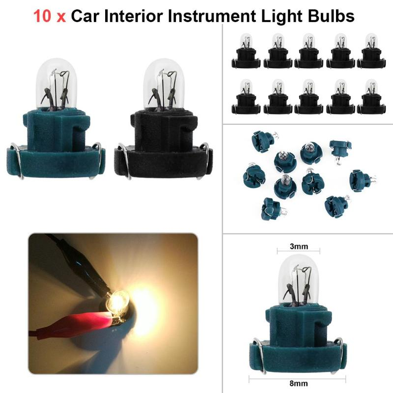 10Pcs Universal <font><b>T3</b></font> LED Bulb <font><b>12V</b></font> 1.2W Car Auto Vehicle Interior Instrument Light Bulbs Air Conditioning Door Lamps For Audi Honda image
