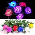 Luzes LED Rose Flor Lâmpada de Jardim Ao Ar Livre Quintal Caminho Lawn Energia Natal Decorativos