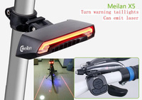 Meilan X5 Bike Light Bicycle Rear Laser Smart tail lamp USB Rechargeable Cycling Wireless Remote Turn led Accessories