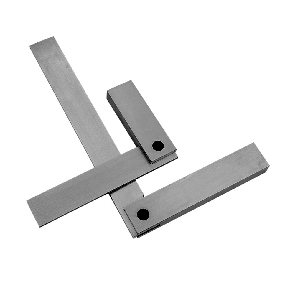 Angle Ruler Gauge 90 Degrees 1 Level Wide Base Angle Ruler 90 Degrees Square Tool Stainless Steel Measurement Tool Ruler