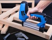220V Electric Straight Nail Gun U Type Nail Dual Use Staple Gun Woodworking Tool