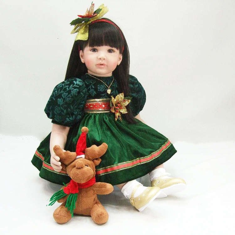 Pursue 24/60 cm Merry Christmas Soft Vinyl Silicone Reborn Toddler Princess Baby Girl Doll Toys for Girls House Play Doll Toys air tube man costumes inflatable advertising air dancer inflatable fly guy air inflatable tube puppet set