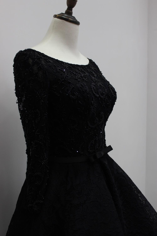 black long sleeves prom dresses
