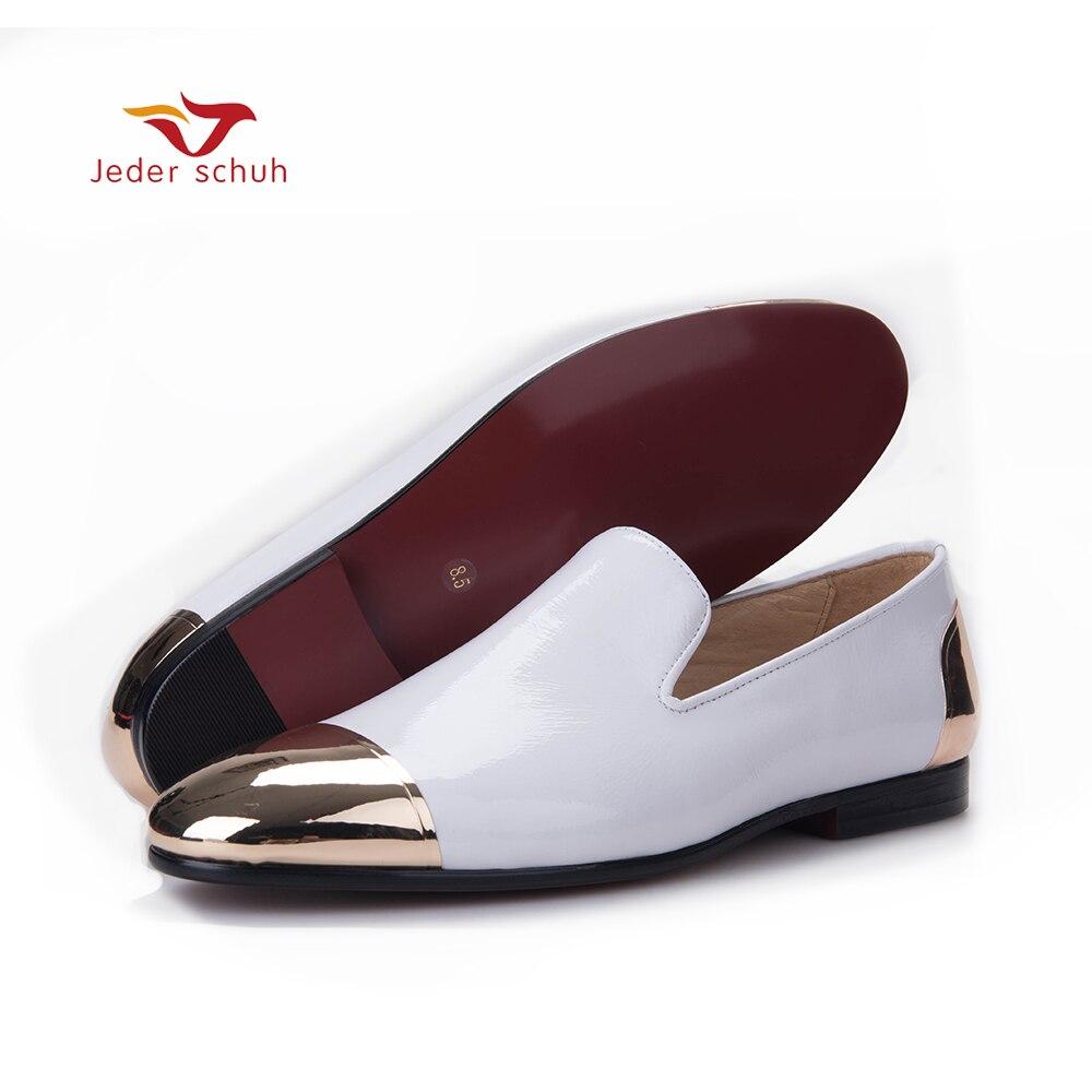 Hechos Mocasines Vestir Black Shoes Charol El Mano Tamaño Boda Shos Más Jeder Y white Los Hombres De Partido Zapatos Nuevo Blanco Schuh Negro A q6wRWSH8g