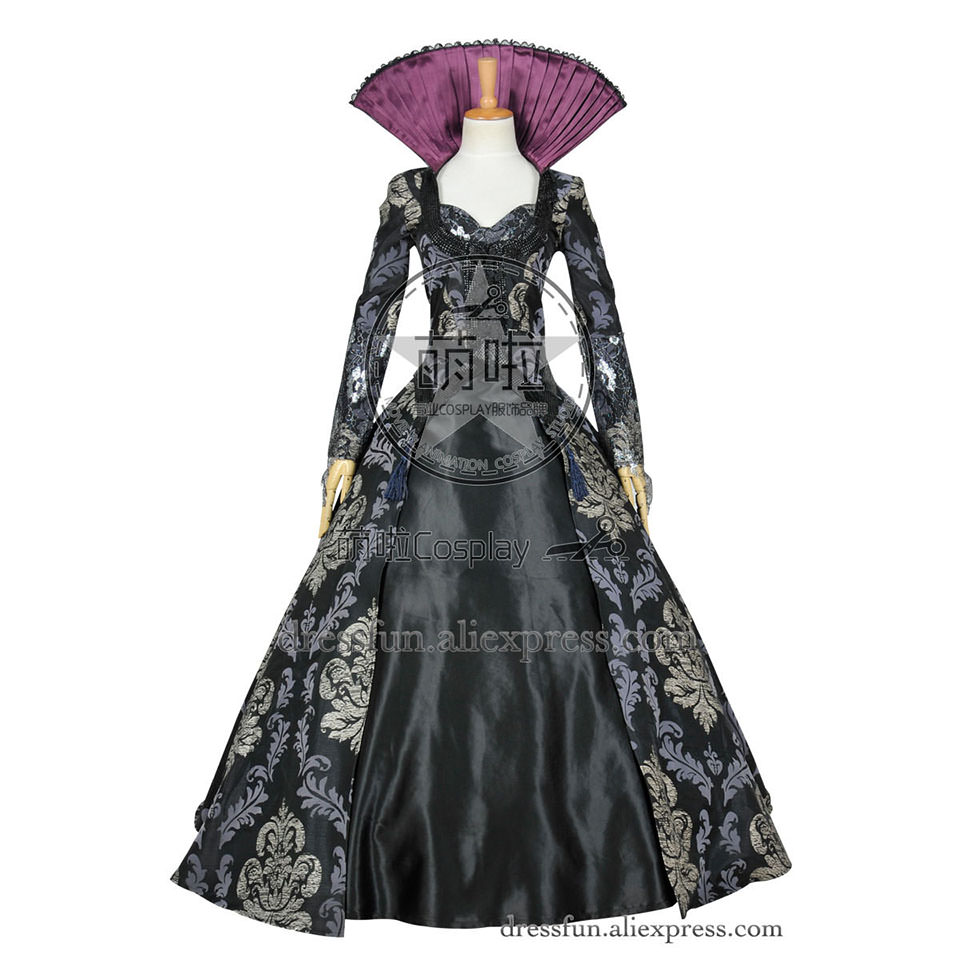 Once Upon A Time Costumes: Once Upon A Time (season 3 4) Cosplay Evil Queen Regina
