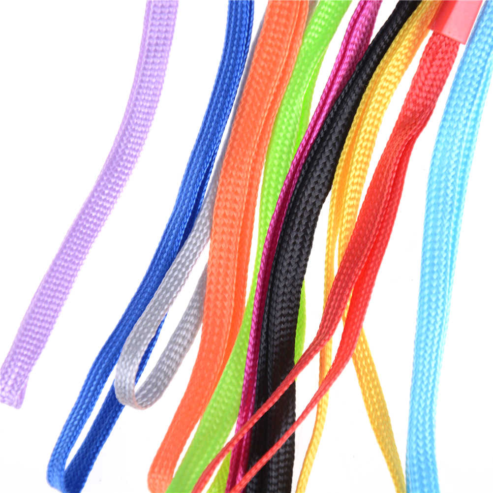 Warna Acak 10 Pcs Pergelangan Tangan Rantai Tali DIY Hang Lanyard Ponsel Gantungan Kunci USB Lencana Tali Tali Tas aksesoris