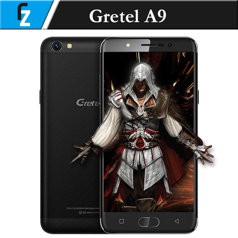"bilder für Original GRETEL A9 5,0 ""HD MTK6737 Quad-core Andorid 6,0 4G Smartphone 13MP CAM 2 GB RAM 16 GB ROM Touch ID 2300 mAh OTG"