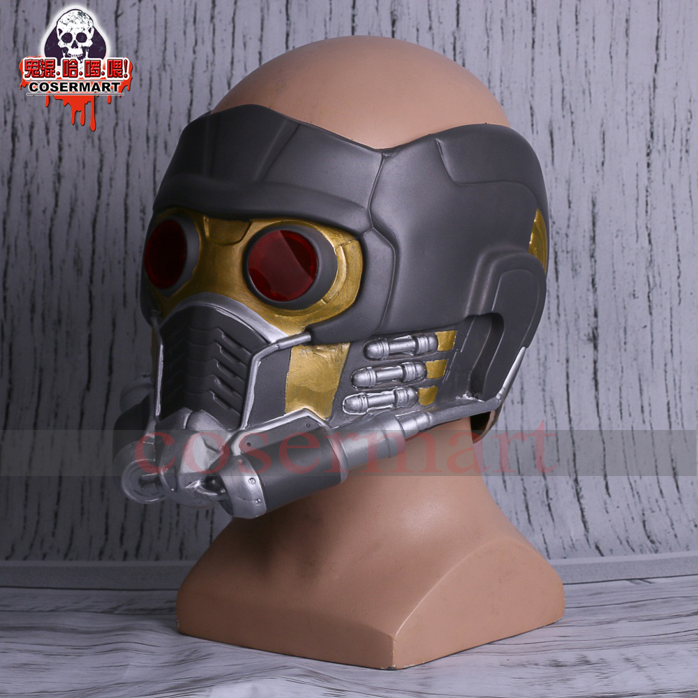 Guardians of the Galaxy Helmet Mask Cosplay Peter Quill Helmet Latex Star Lord Helmet Halloween Party Mask Adults (4)