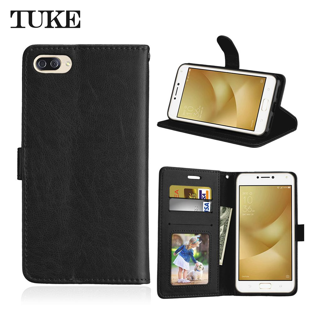 Brand TUKE Flip Leather Back Cover Phone Case For Asus Zenfone 4 Max ZC520KL <font><b>ZC</b></font> ZC520 <font><b>520</b></font> 520KL <font><b>KL</b></font> Asus X00HD Flip Case 5.2 image