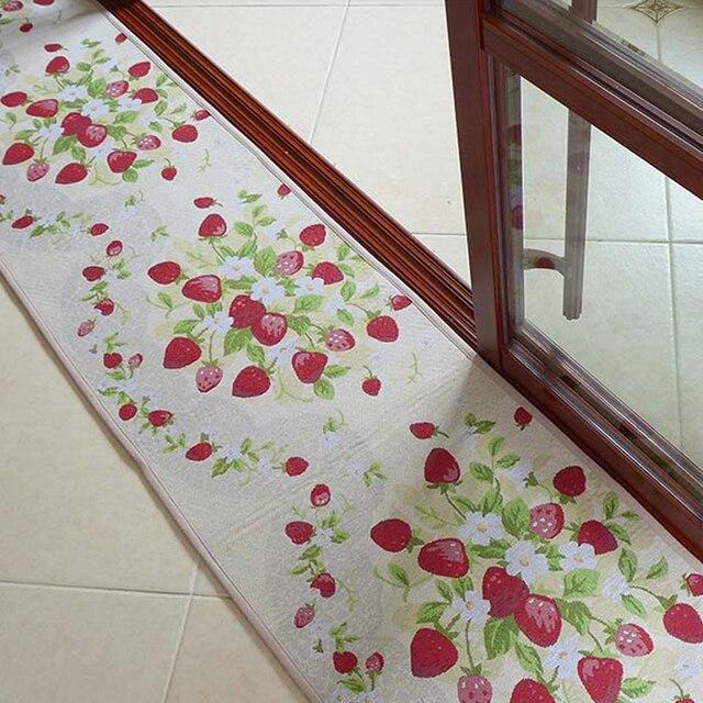Yazi Erdbeere Lange Küche Teppich Läufer Teppich Rutschfeste Fiber ...