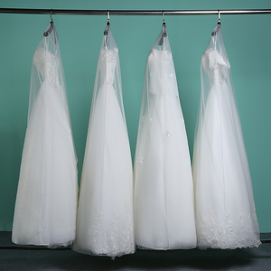 Image 1 - Long 160cm 180cm Transparent Soft Tulle Dust Cover for Home Clothes Wedding Dress Garment Bridal Gown Protector Mesh Yarn AC017