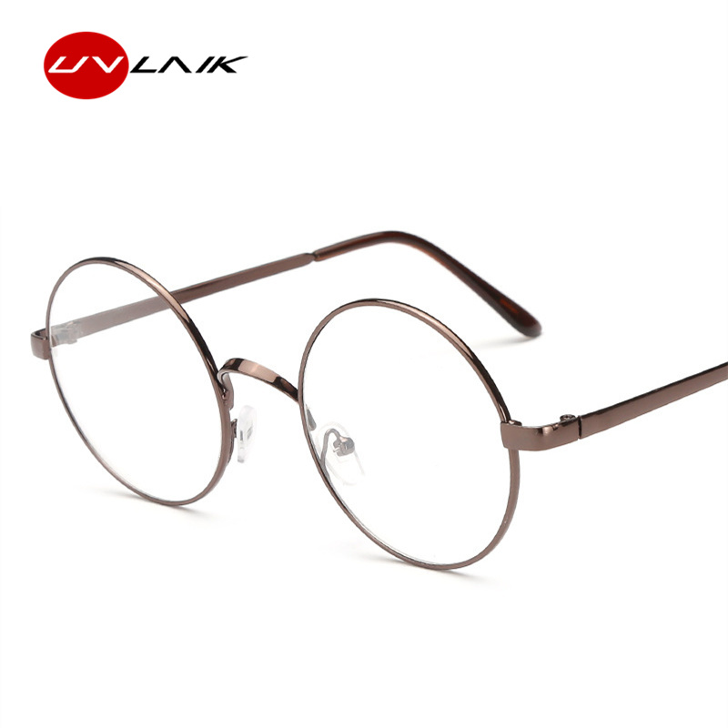 ae4c9b26ee6 UVLAIK Round Spectacle Glasses Frames For Harry Potter Glasses With Clear  Glass Women Men Myopia Optical Transparent Glasses-in Eyewear Frames from  Apparel ...