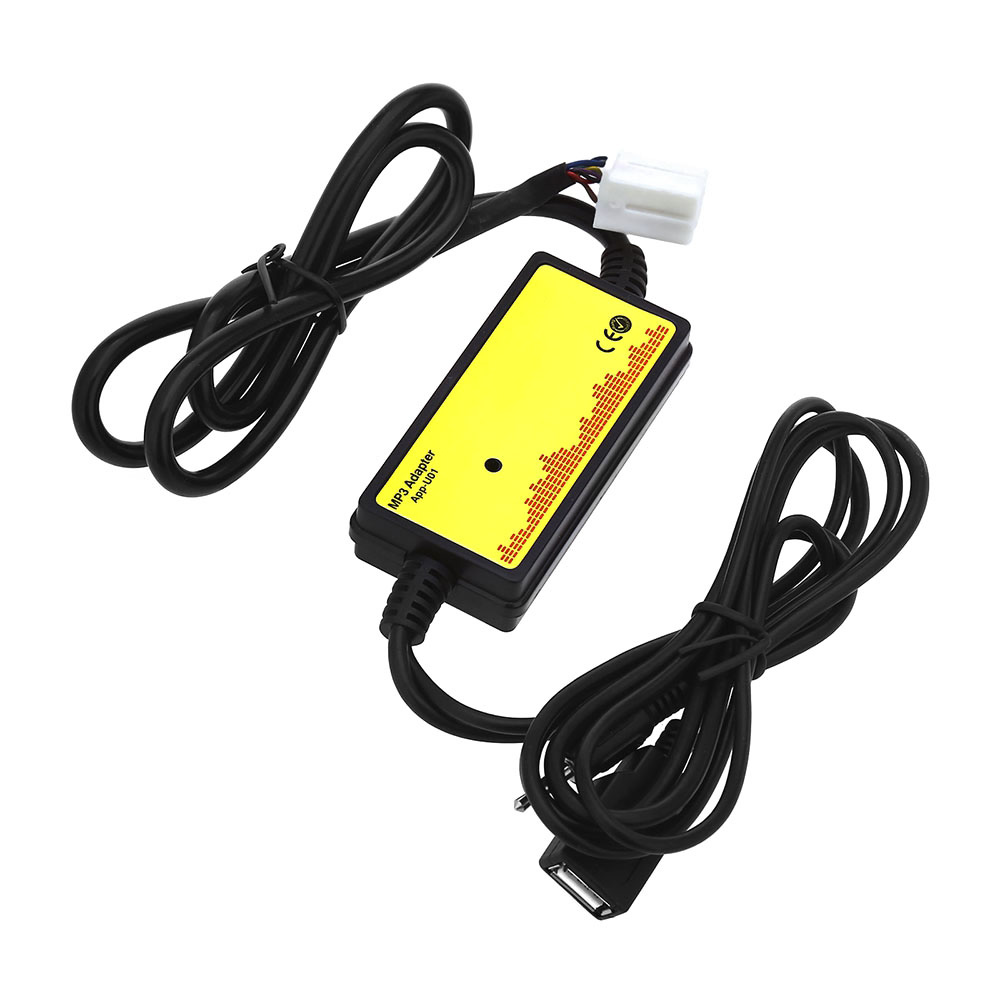 imágenes para Interfaz De Audio del coche MP3 USB Cable de Datos 8 P Conectar CD Cambiador de SSD/SHSD/Mmc Y memoria USB de juego DC 12 V para Honda