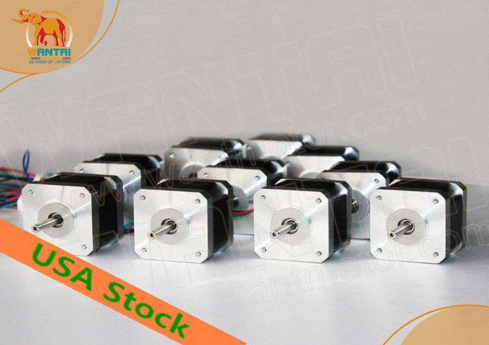 цена на Free[BIG SALE]! Wantai Nema17 Stepper Motor 42BYGHW804 4800g-cm 48mm 1.2A 4-Lead CE ROHS ISO CNC Mill 3D Printer MINI Machine