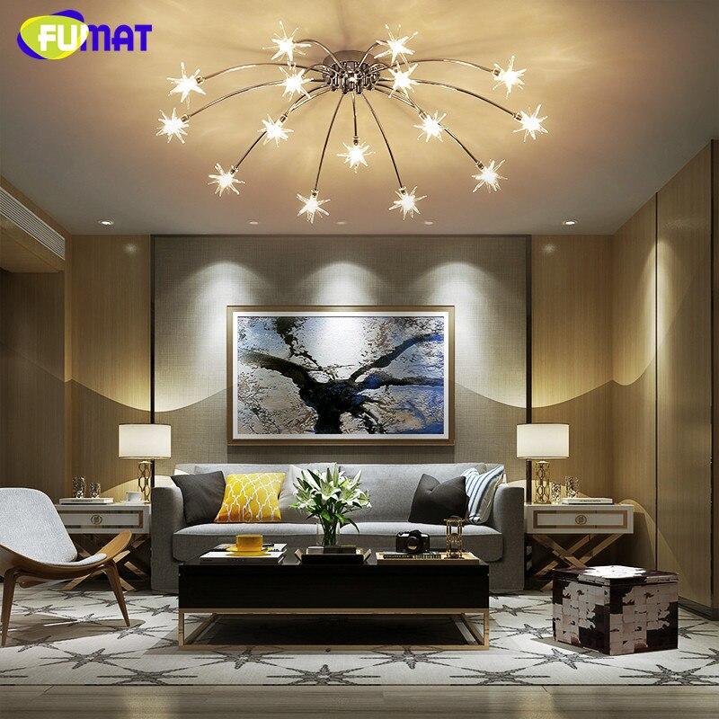 FUMAT Moderne Runde G LED Kristall Glas Sterne Deckenleuchten - Schlafzimmer sternenhimmel