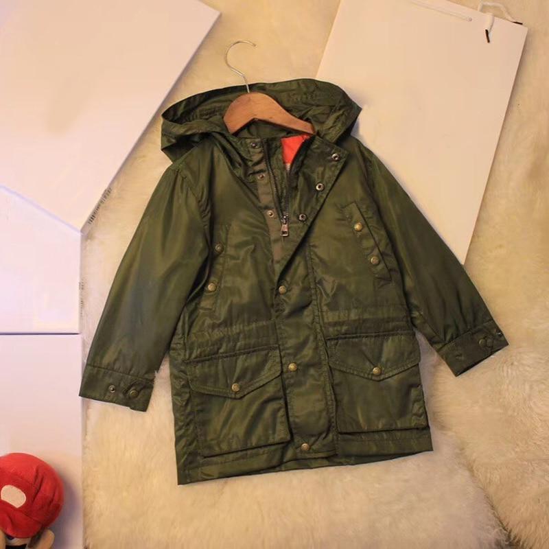 цена на Kids windproof Jackets Coat Hooded Boys Outerwear Baby Girls Windproof Hoodie Jacket Windbreaker Children's Clothing in stock