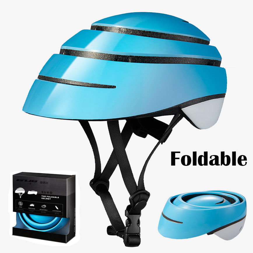 Foldable Bicycle Helmet City Leisure Riding Helmet Cycling Sports Helmet MTB Road Bike Folding Cycling Casco Ciclism Safety CapFoldable Bicycle Helmet City Leisure Riding Helmet Cycling Sports Helmet MTB Road Bike Folding Cycling Casco Ciclism Safety Cap
