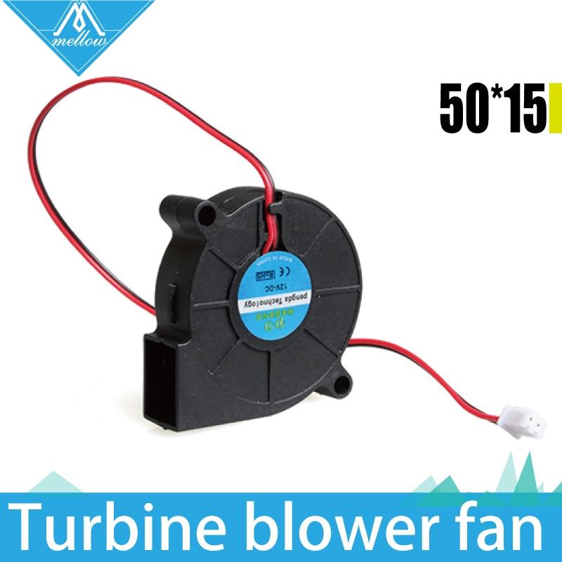 3D Printer Fan 5015 12V 24V 0.15A Sleeve Bearing Brushless Fan centrifugal for Reprap Prusa i3 DC Cooling Fan Turbo fan 5015S 5015 12v cooling turbo fan brushless 3d printer parts 2pin for makerbot reprap prusa i3 dc cooler blower 50x50x15mm part plastic