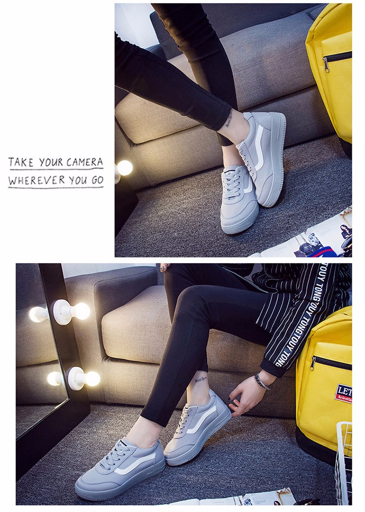 Free Shipping 2016 New Fashion Women Casual Shoes Comfortable Lace-up Woman Flats Classic Round Toe Sports Shoes ST427 (8)