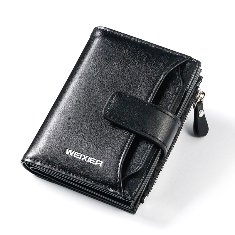 Men Wallets Front-Pocket Clutch 7-Cards Large-Capacity Classic PU for Man Credit Hasp