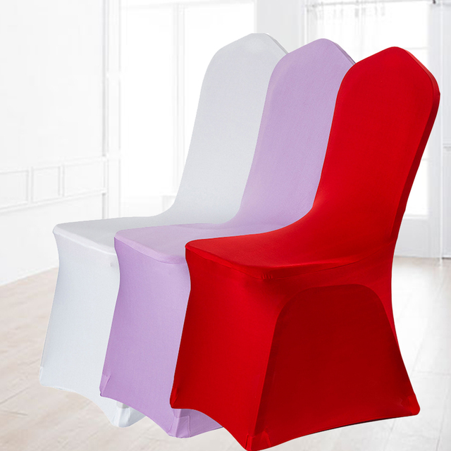 US $4.74 12% OFF|16 Pure Colors fundas sillas comedor elastica for weddings  banquet party decoration stretch chair cover free shipping-in Chair Cover  ...
