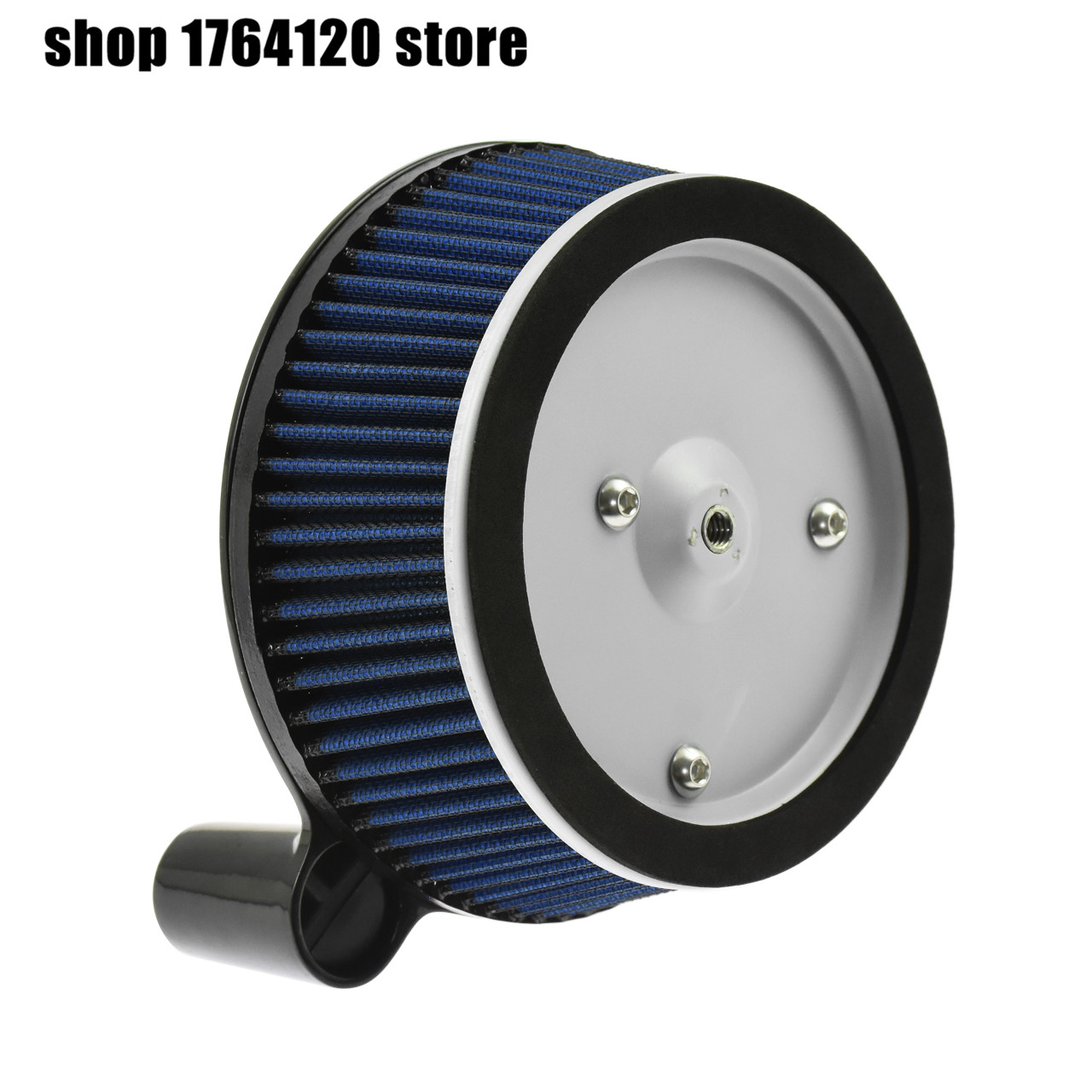 Motorcycle Air Filter System Blue Cleaner Aluminum For Harley Touring Street Glide Road Glide 2000-2007 Dyna 00-17 Softail 00-15 image