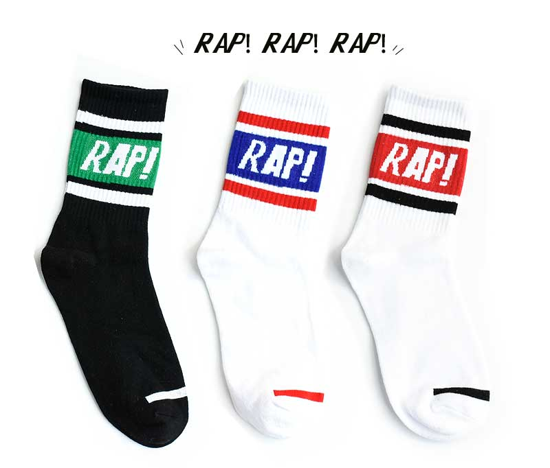 Cotton Men Women Spring Autumn Socks Hiphop Letters Fashionable Rap Striped Solid Lovers Sport Crew Street Socks