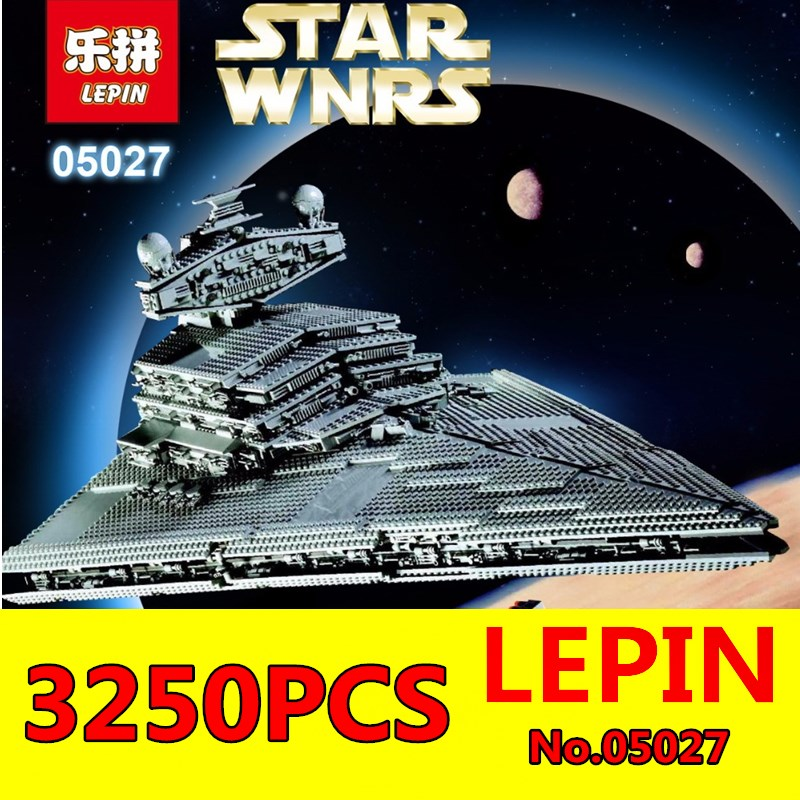 Star Wars LEPIN 05027 3250pcs Emperor Fighters Starship Model Building Kit Blocks Bricks Assembling Toy Compatible with 10030