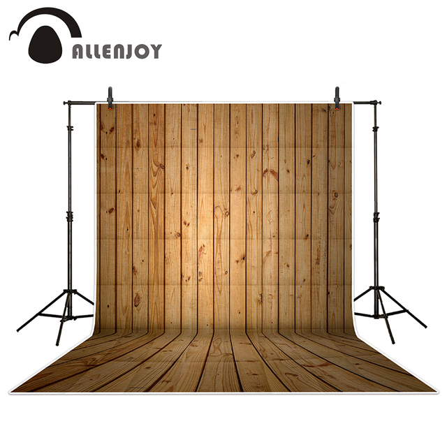 Allenjoy Photography Backdrops Bright Light Coffee Color Wood Brick Wall  Backgrounds For Photo Studio