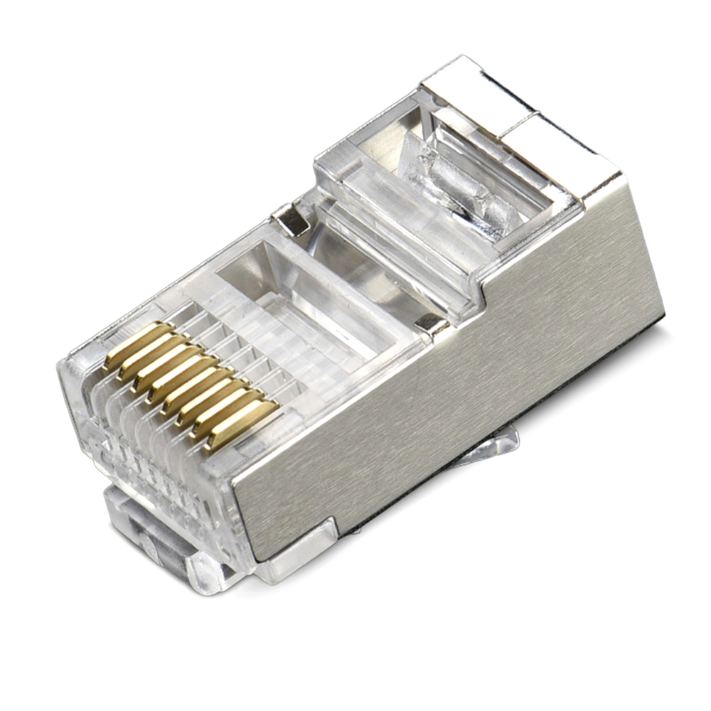 RJ45 Connector Cat5 Cat5e Cat6 RJ45 Shielded Plugs Network Connector Terminals Ethernet Cable Plug HY1527 50pcs rj45 cat6 cat6a shield shielding network connectors plug terminals for modem cable network adapter q99 clh