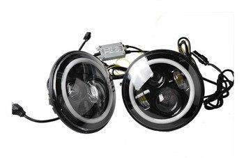 """1PCS  7"""" Round Led Headlight Wrangler Led Headlights  With 7 Inch , H4 Hi/Low 45w Led Headlamp Kit"""