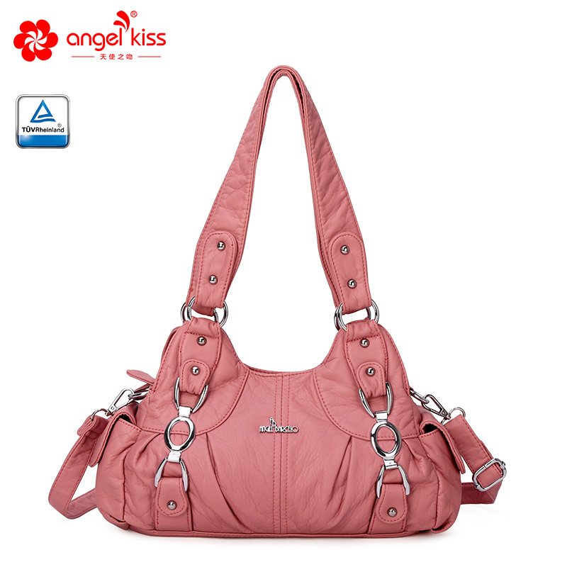 Angel Barcelo Causual Hobos Women Handbags Soft Shouder Bags for Street Travel AKW22024 in Top Handle Bags from Luggage Bags
