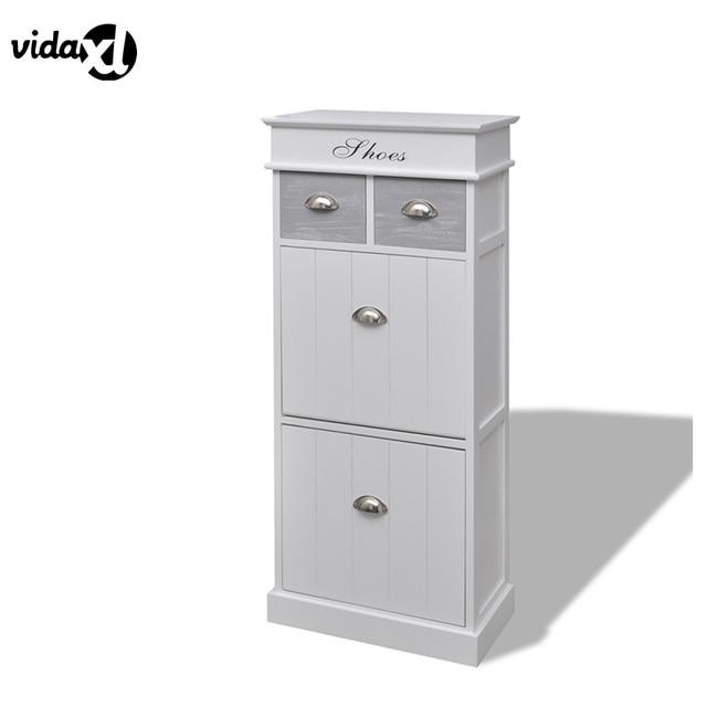 vidaXL Durable Paulownia WoodShoe Cabinet Shoes Rack Simple Stylish ...