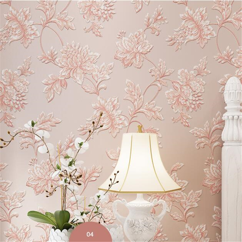 Beibehang papel de parede Non-woven wallpaper 3d stereo luxury European style wallpaper bedroom living room background wallpaper papel de parede european luxury diamond crystal 3d wallpaper 3d flocking non woven wallpaper wallpaper living room tv