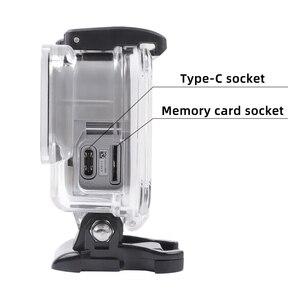 Image 2 - Boîtier de protection squelette boîtier ouverture latérale & porte arrière avec trou avec verre dobjectif pour GoPro Hero 7 accessoires argent blanc
