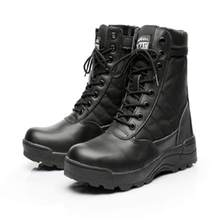 Men Tactical Boots Army Boots Men's Military Desert Waterproof Work Safety Shoes