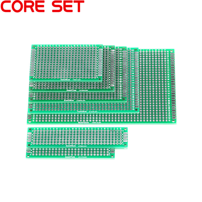 5PCS Double Side Prototype PCB Tinned 2.54mm Glass Fiber Universal Breadboard 6x8 4x6 3x7 2x8 FR4 5x7 7x9 8x12CM цены