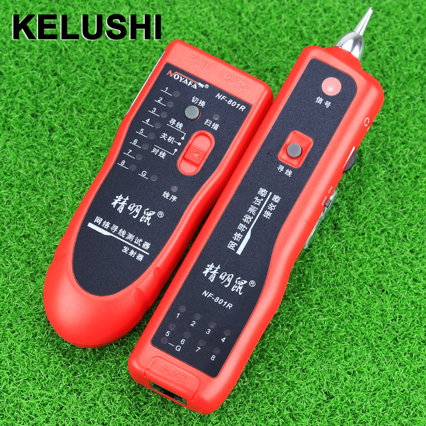 KELUSHI Cable Tester Teacker Phone Line BNC Network Finder RJ11 RJ45 Wire Tracer NF 801R