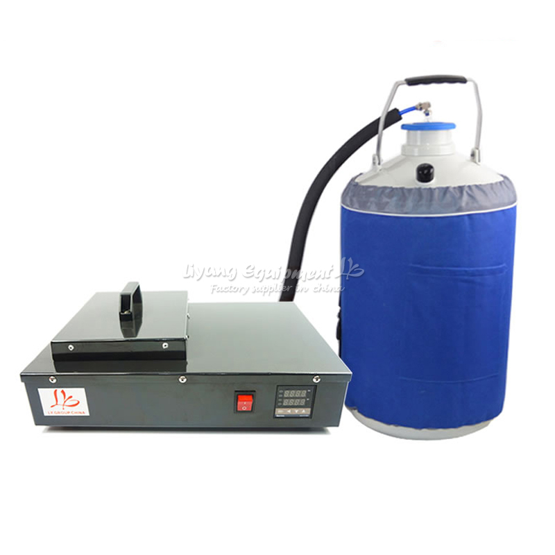 LCD screen separator liquid nitrogen frozen Separating machine 220V 300W built-in oil free vacuum pump with 10L tank FS-06 tbk 968 14inch big size lcd separator machine built in vacuum pump screen separating machine for iphone samsung ipad