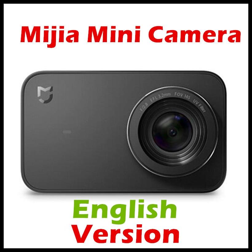 (ინგლისური ვერსია) Xiaomi Mijia Mini 4K 30fps Action 7 მინის ობიექტივი ექვს ღერძი EIS 145 გრადუსიანი ულტრა ფართო კუთხით 2.4 ინჩიანი ეკრანით