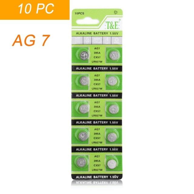 b9ce1aa05f0 10 pcs AG7 LR927 LR57 SR927W 399 GR927 395A 1.55 v Botão Bateria de Célula  tipo