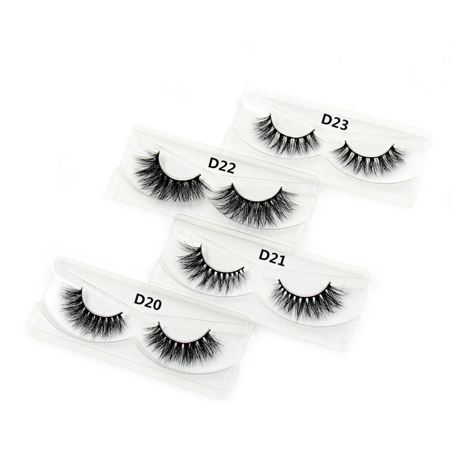 LEHUAMAO Mink Lashes 3D Mink False Eyelashes Long Lasting Lashes Natural Lightweight Mink Eyelashes Fluffy Dramatic Eye Makeup 1