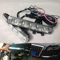 1 Pair Bright Super White 15W 5 LED Car Headlight Daytime Running Light DRL Fog