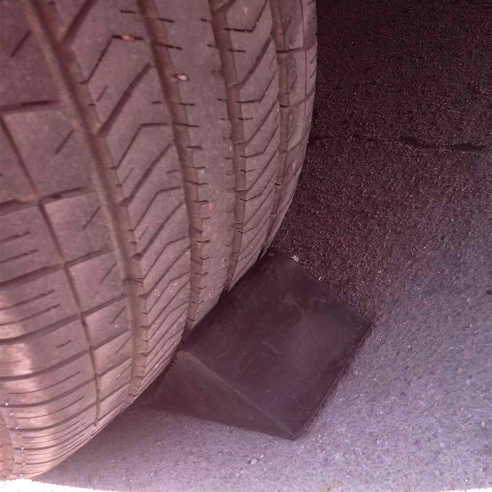 Wheel Rubber Slope Chock Blocks Car Wheel Stopper Chock Retainer Reverse Pad Slope