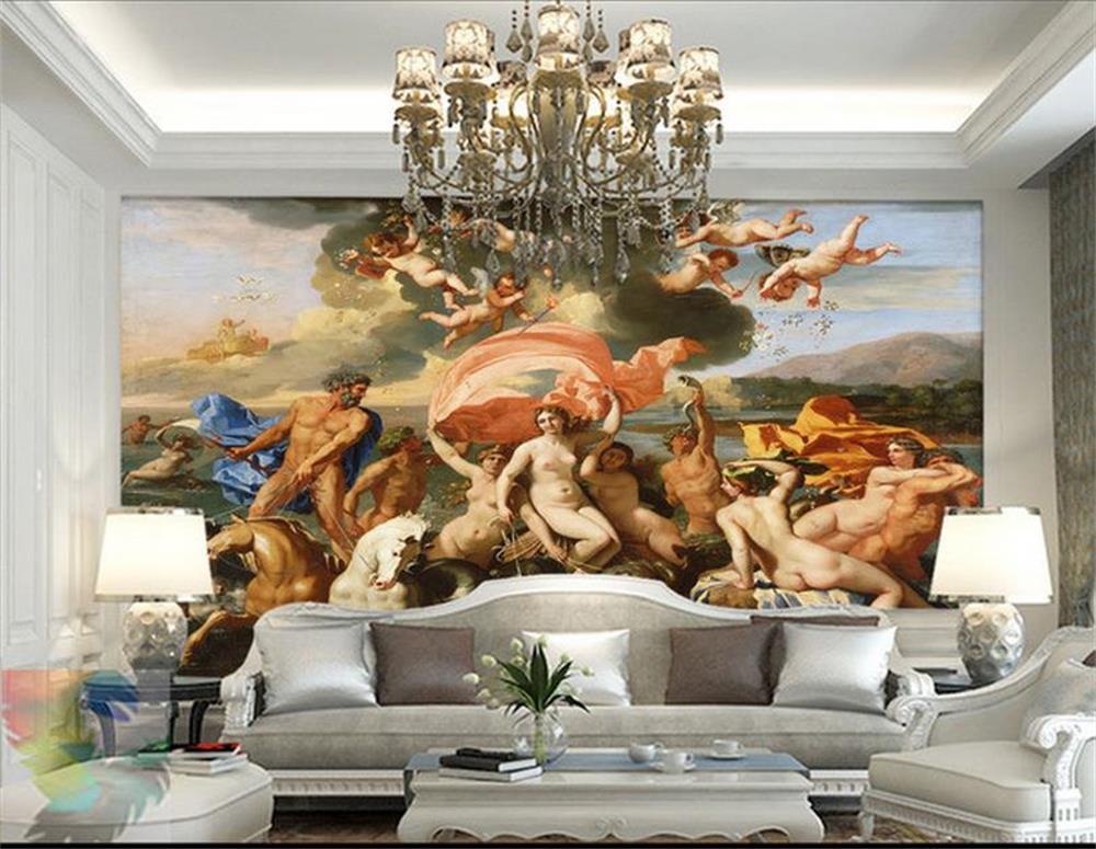 3d Wallpaper Custom Mural Beauty Non Woven The Birth Of Venus The Goddess Venus European Background Wall Paintings Wallpaper Wallpapers Aliexpress