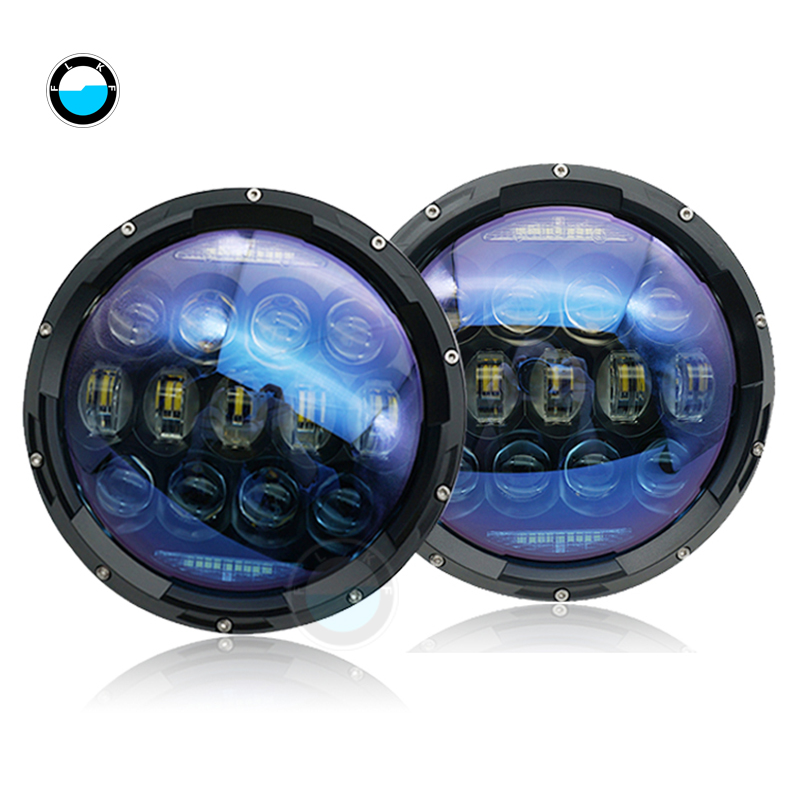 New Design Pair 7 inch 130w round led headlight For Land Rover 7Inch LED Headlamps with Amber Turn Signal For Lada Niva 4x4.New Design Pair 7 inch 130w round led headlight For Land Rover 7Inch LED Headlamps with Amber Turn Signal For Lada Niva 4x4.